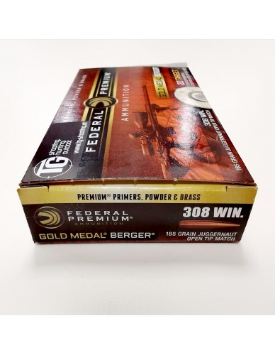 Federal Premium 308 Win. Gold Medal Berger 185gr Juggernaut