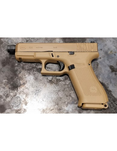 Glock 19X cal. 9x19 mit Gewindelauf M13,5x1 links